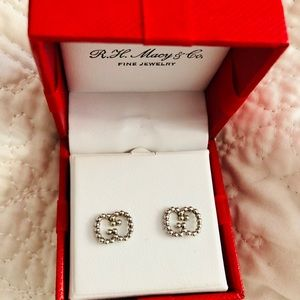 Authentic Gucci Guccisma Silver Earrings